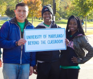 Beyond the Classroom students Jeremy Hsiao, Tariq Jah and Cynthia Ezedike at the 27th Annual AIDS Walk Washington!
