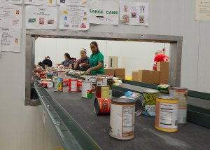BTC students at Capital Area Food Bank